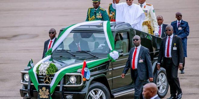 NIGERIA:    PRESIDENT BUHARI SWORN  IN FOR SECOND TERM